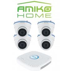 Amiko home camera beveiligingsysteem met opname mogelijkheden.
