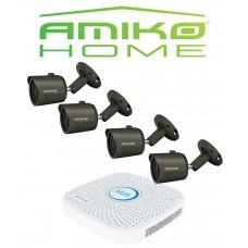 Amiko IPCAM home startersset bullet 4, antraciet