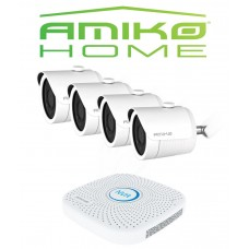 Amiko IPCAM home startersset bullet 4, wit