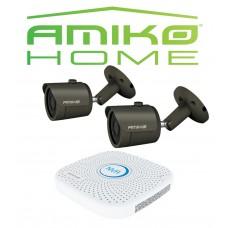 Amiko IPCAM home startersset bullet 2, antraciet