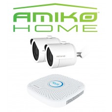 Amiko IPCAM home startersset bullet 2, wit