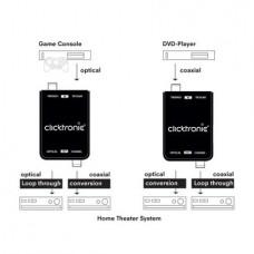 Clicktronic Omvormer - optische-coaxiaal