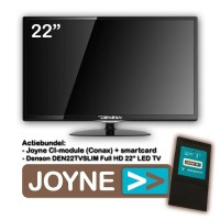 Denson DEN22TVSLIM-MT 22 inch LED TV + Joyne CI Bundel