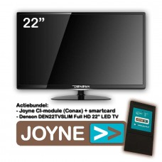 Denson DEN22TVSLIM-MT 22 inch LED TV + Joyne CI Bundel