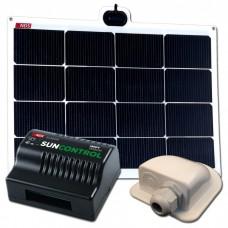 Compleet flexibel zonnepaneel set van 50 watt.