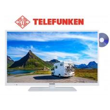 Telefunken XH24D401VD-W 24 inch witte tv met dvd