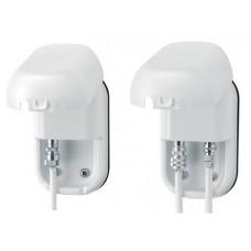 Maxview waterdichte kabel doorvoer Wit - dubbele met F Connectors B2007