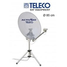 Teleco Activsat 85T Smart DiSEqC Transparant 85cm Twin