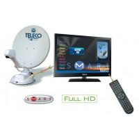 Teleco Flatsat Elegance Easy SMART 65cm met TY2 24 inch LED tv