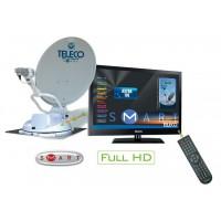 Teleco  Flatsat Komfort SMART 85cm met TY2/22 inch LED/DVD